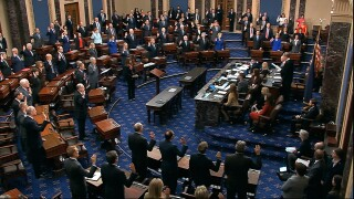 Senators told to be quiet during impeachment trial