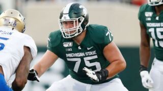 Mark Dantonio says Michigan State OL Kevin Jarvis is out for 6-7 weeks