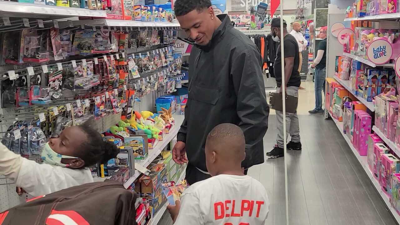 Grant Delpit shopping event