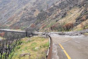 I-70 mudslide in Glenwood Canyon