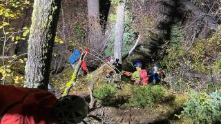 Woman rescued after rock-climbing accident in Bear Canyon
