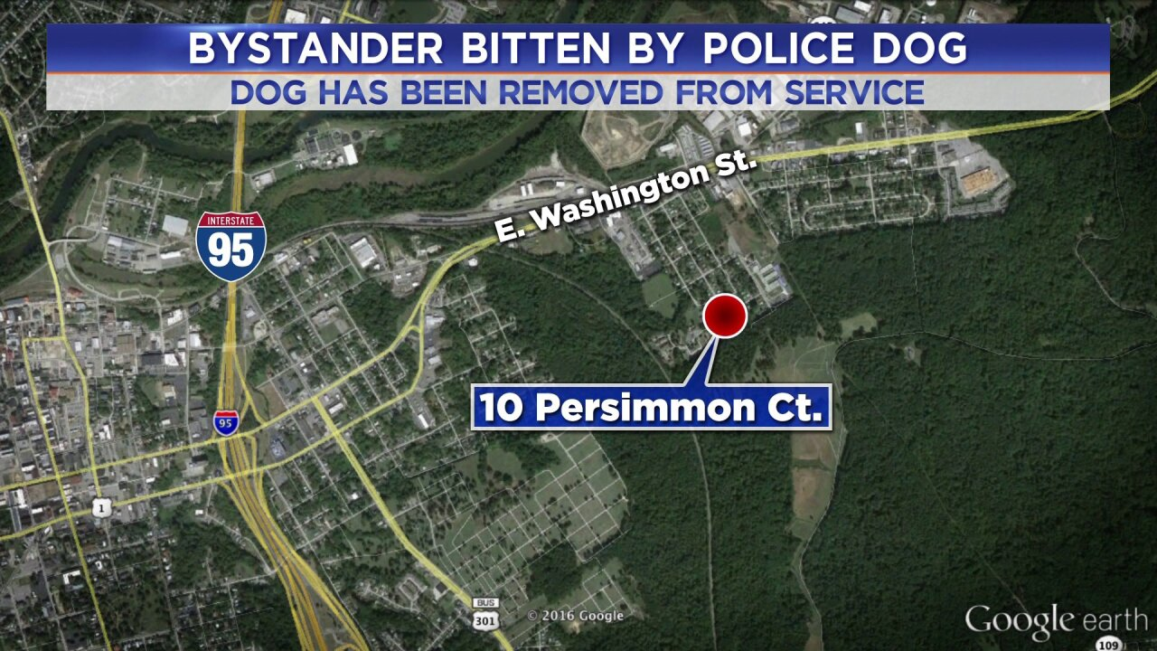 Petersburg Police investigating incident after K-9 bites bystander