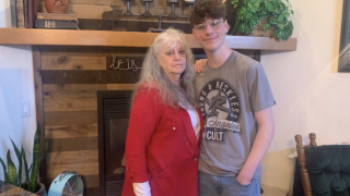 Collin Clabaugh and his grandmother