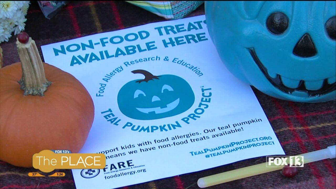 The important reason people are putting teal pumpkins on their porch Halloweennight