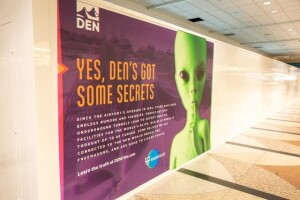 Denver's airport pokes fun at conspiracy theories with construction