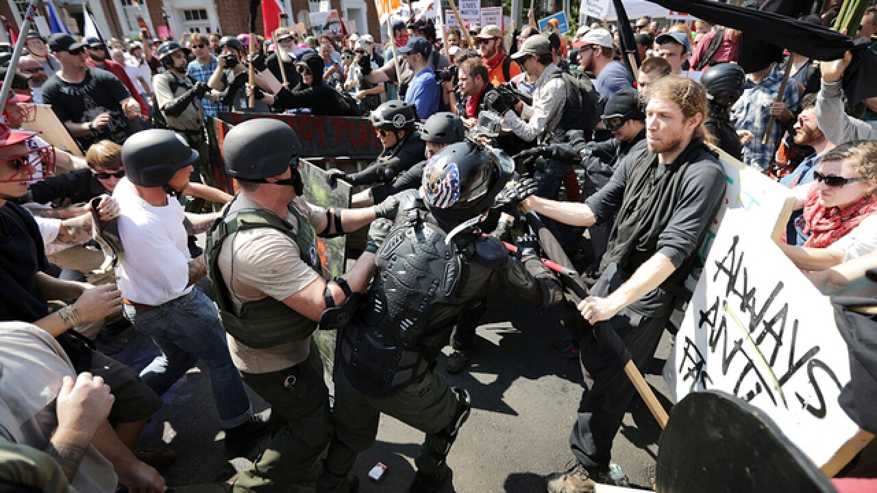 Police 'looking into' three Ohio men accused in Charlottesville white supremacist protest violence