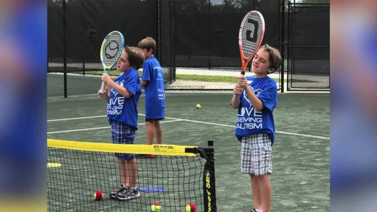 Tennis lessons helping kids on the autism spectrum