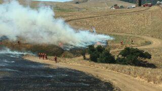 CAL FIRE conducts prescribed burn near Camp San Luis Obispo