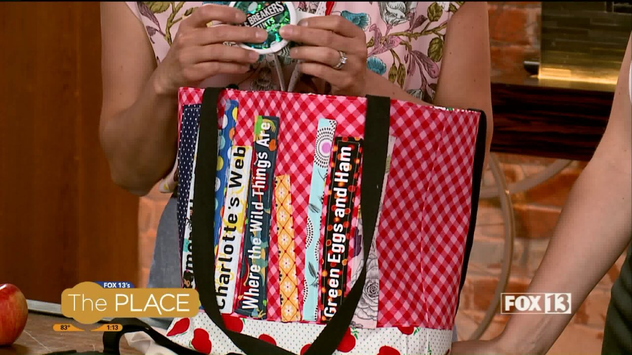 This back-to-school bag is easy to make and makes a great teacher gift!