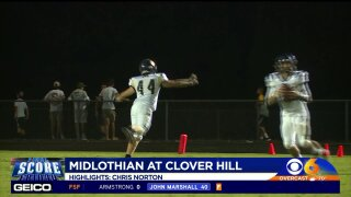 Clover Hill tops Midlothian to stay perfect
