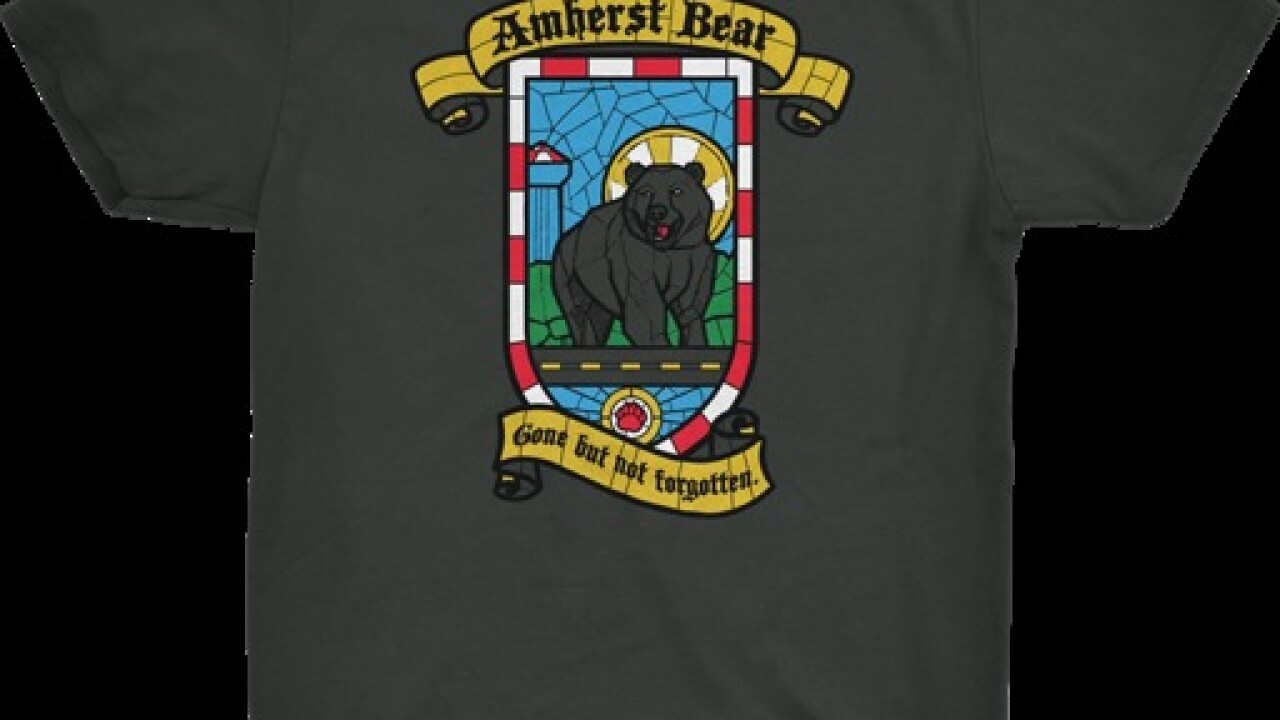 Miss the Amherst bear? Now you can show the world.