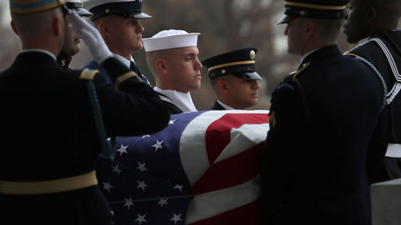 George H.W. Bush eulogized by son, honored by family and friends