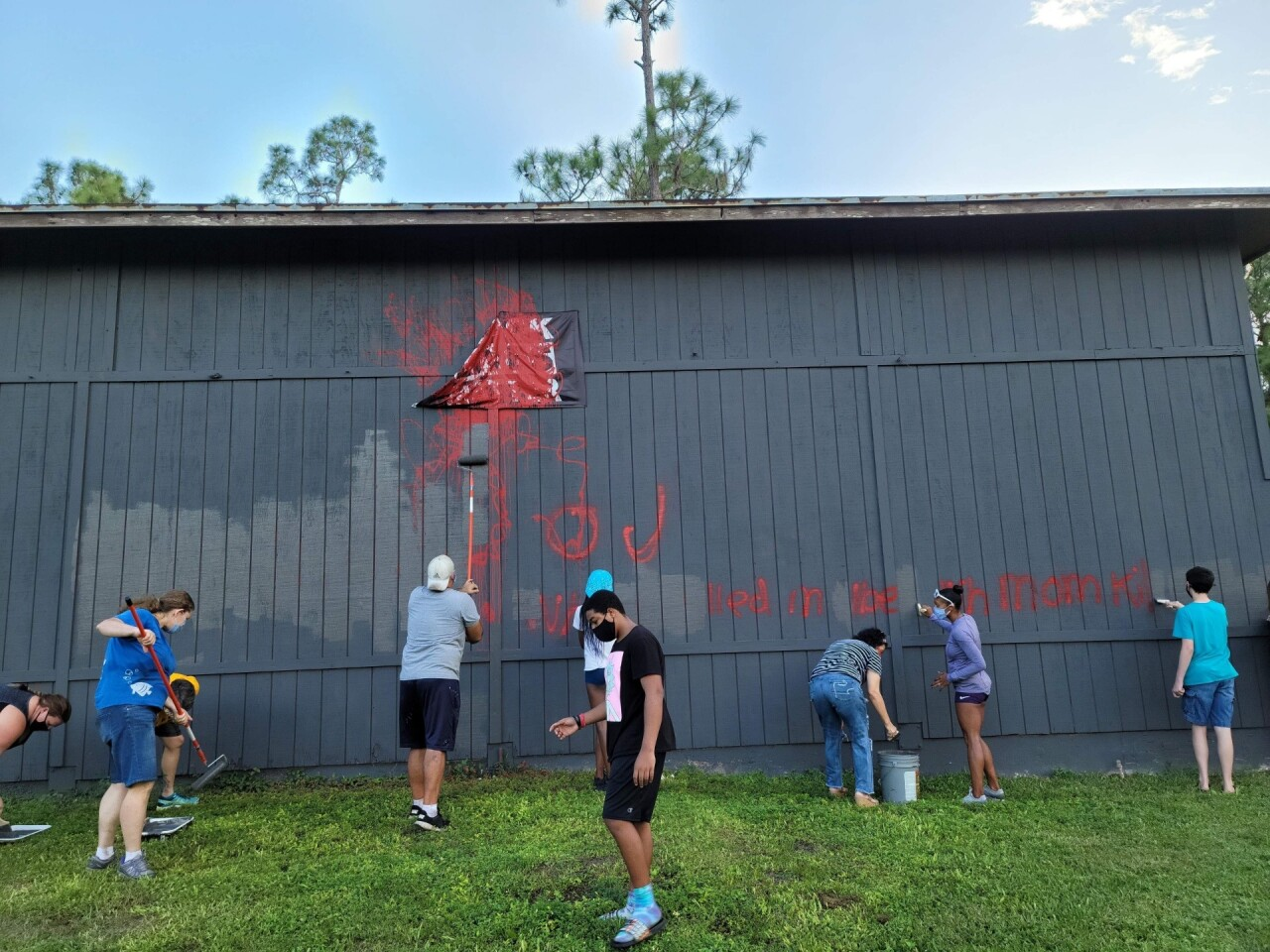 Neighbors clean up after Jupiter Farms property vandalized for sixth time