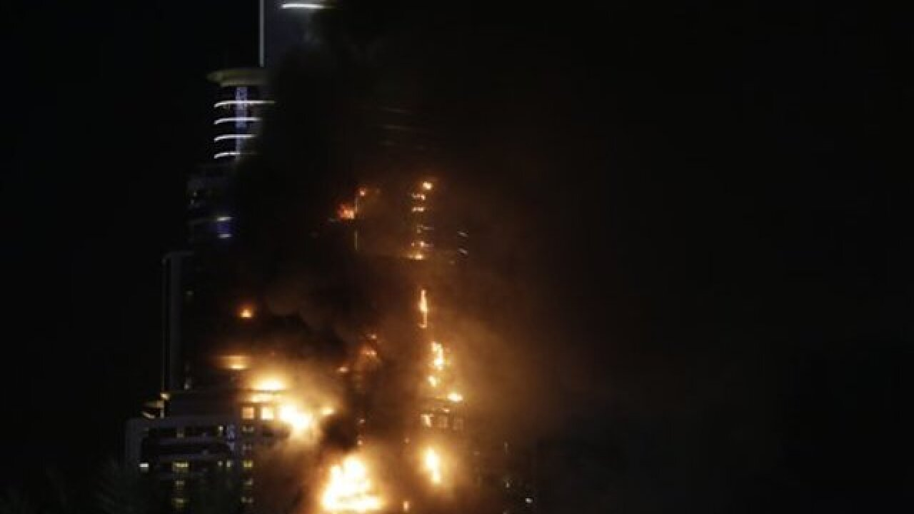 Dubai blaze sparks near world's tallest building