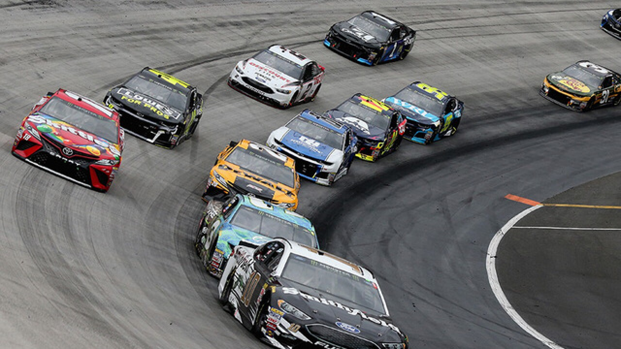 The Latest: Completion of Bristol race postponed to Monday