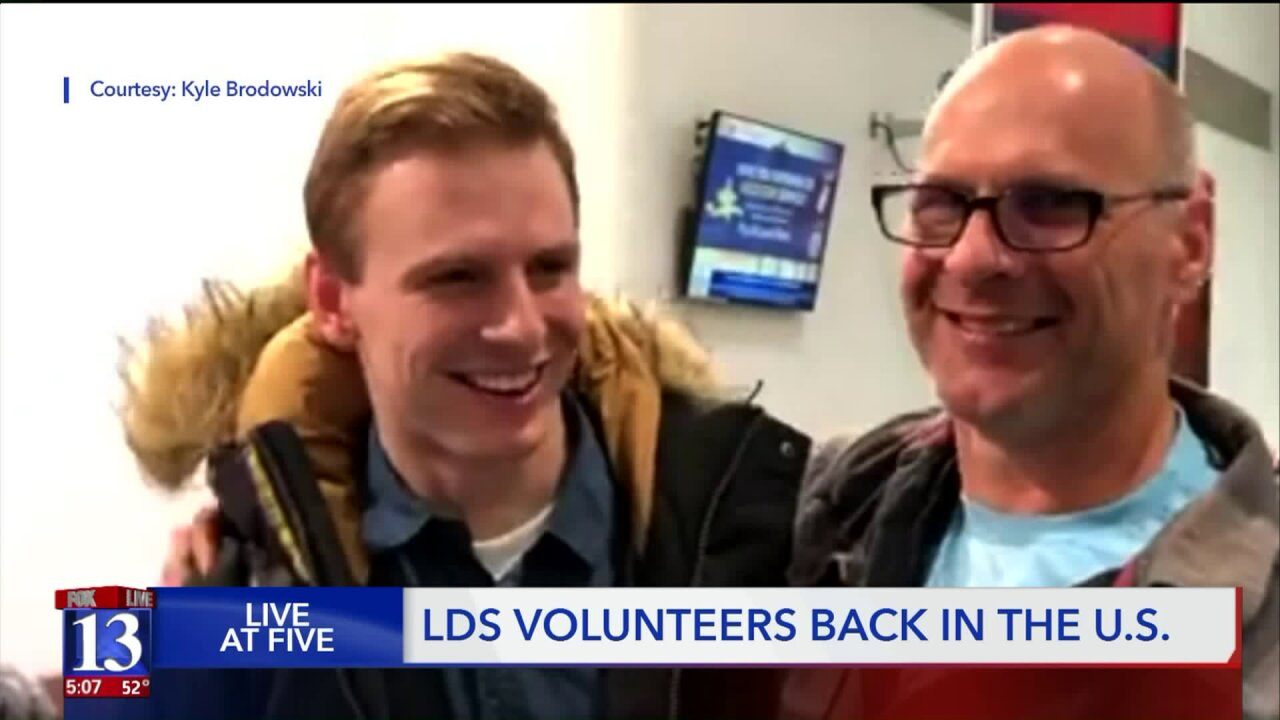 LDS volunteers in Russia safely return home to US