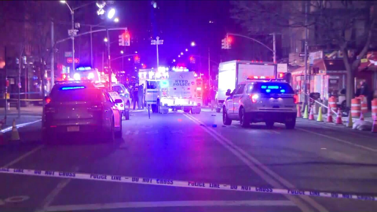 Scene after two wounded in police-involved shooting in East Village