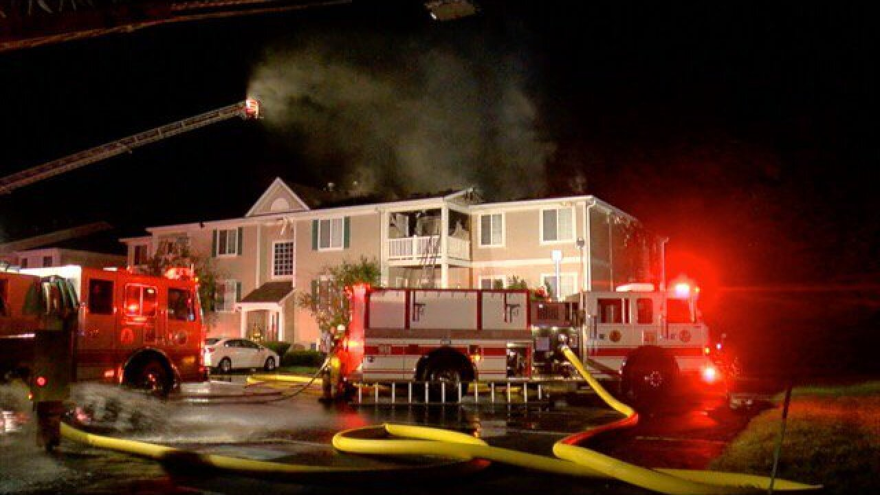 Union Township condo fire displaces 17 residents