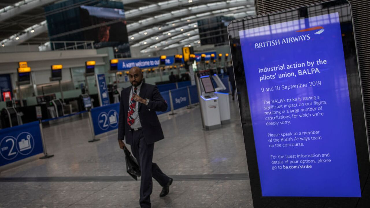 Nearly all British Airways flights canceled as pilots go on strike