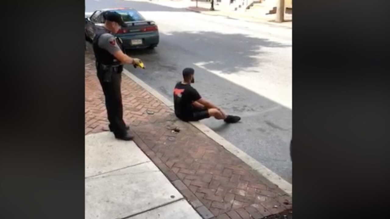 Pennsylvania city investigating after video shows police using stun gun on seated suspect