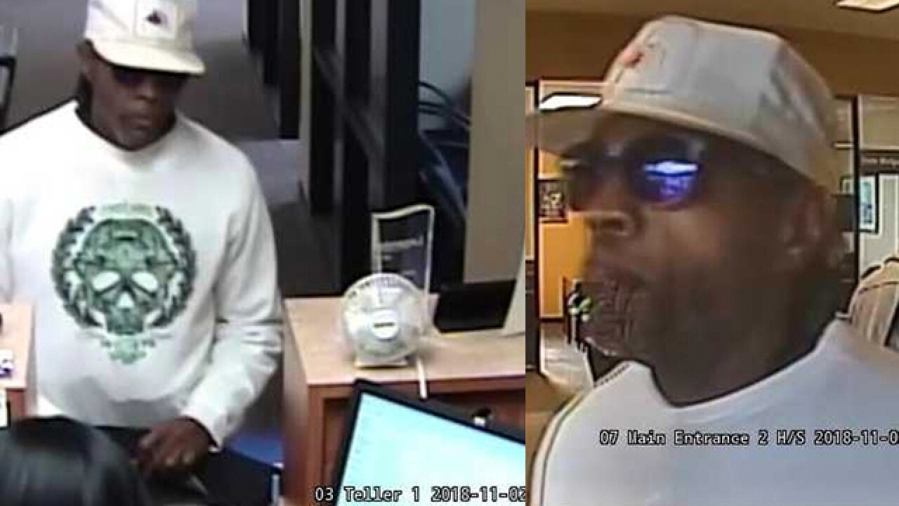 Suspect sought in Nashville bank robbery