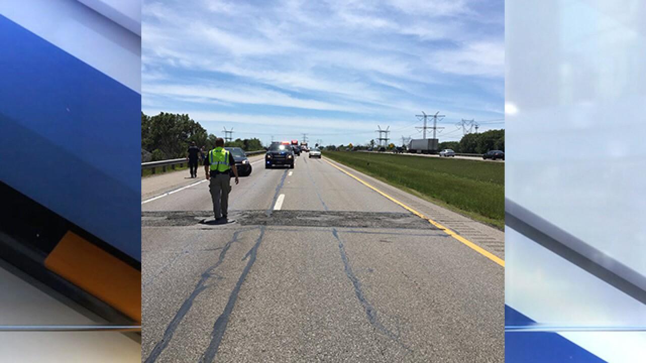 Pedestrian struck by semi on I-90 east near Avon