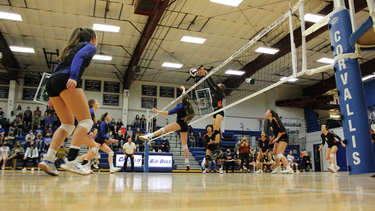 Ronan vs. Corvallis volleyball