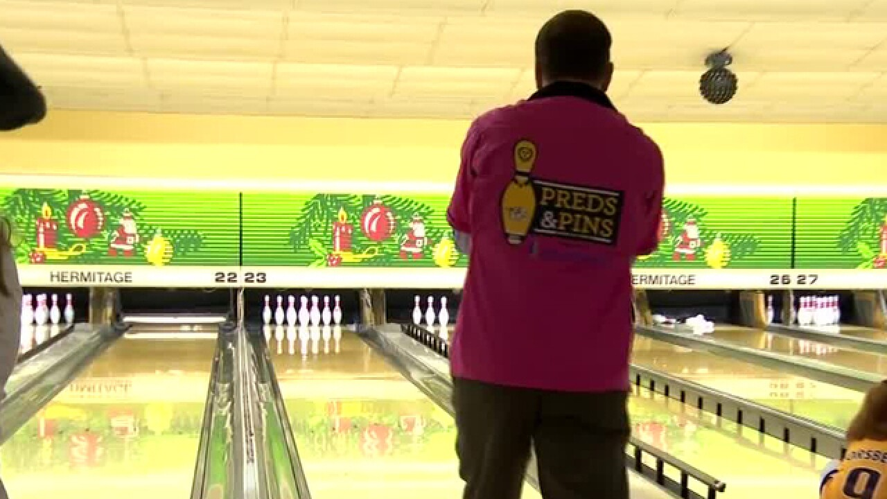 6th Annual 'Preds & Pins' Bowling Tournament Held