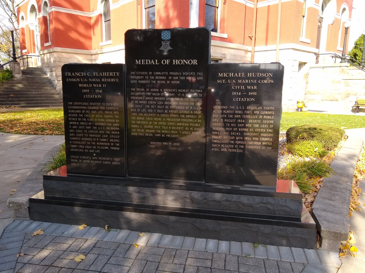 Francis's memorial in Charlotte