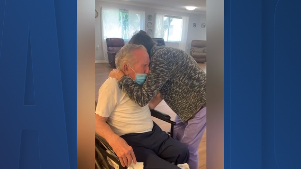 Couple married for 60 years reunites after being apart for over 200 days due to pandemic