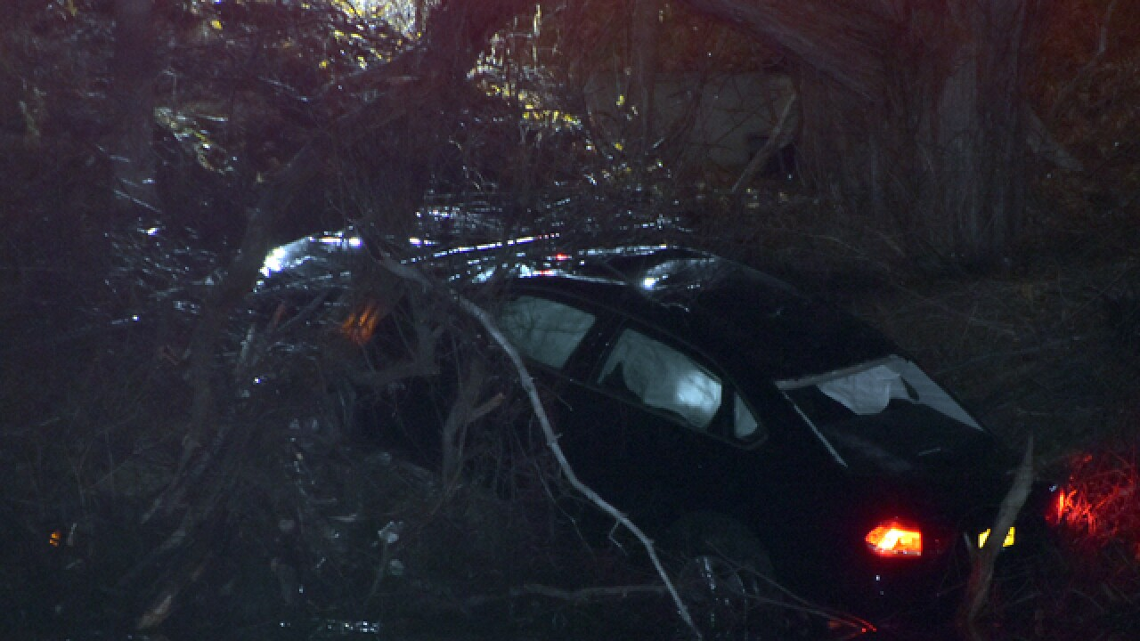 Man crashes car into embankment in Pendleton; charged with DWI