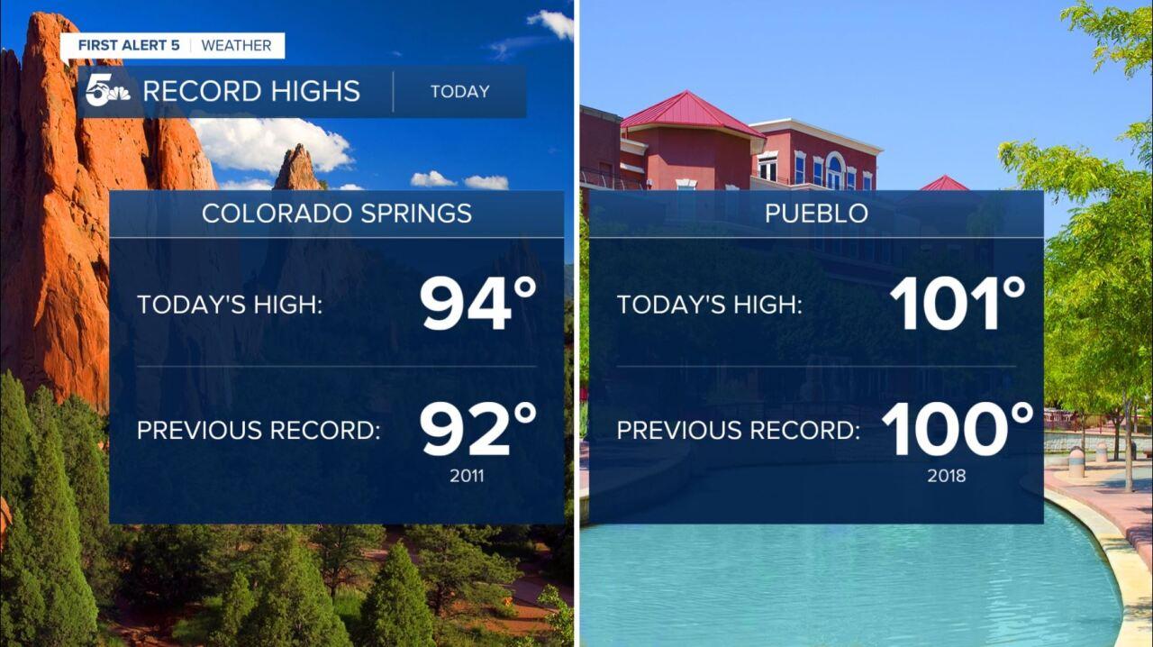Record high temperatures June 5, 2020