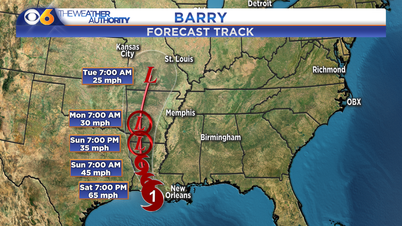 Barry becomes a hurricane