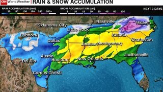 Major winter storm to slam southern US states