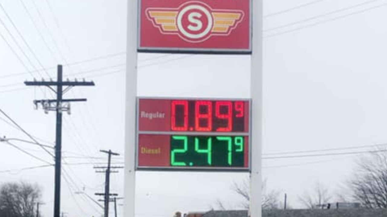 A Cleveland gas station is selling gas for 89 cents. Yes, 89 cents.