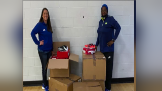Moody High School gets track spike shoes donation