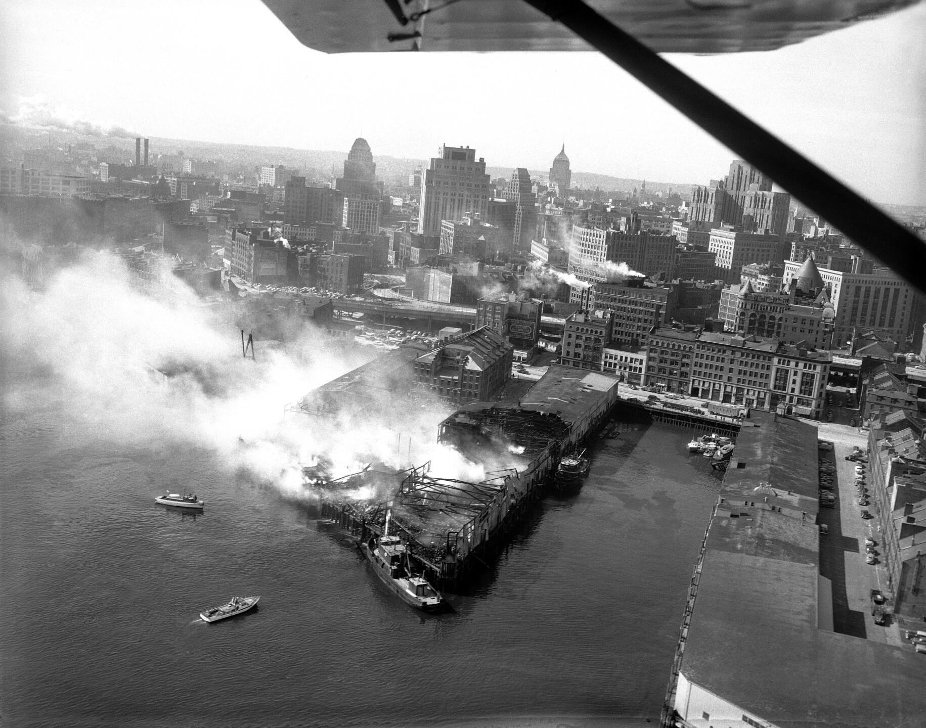 Boston India Wharf Fire