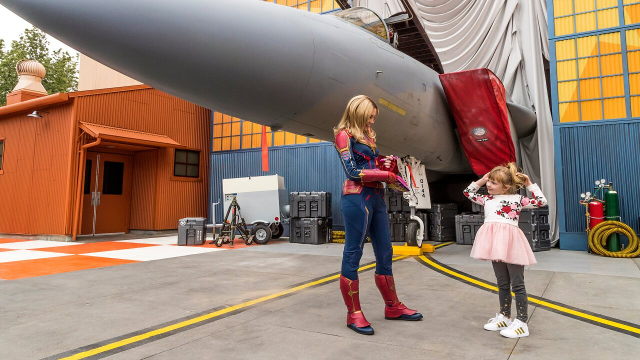 Captain Marvel Lands At California Adventure Park Ahead Of Marvel