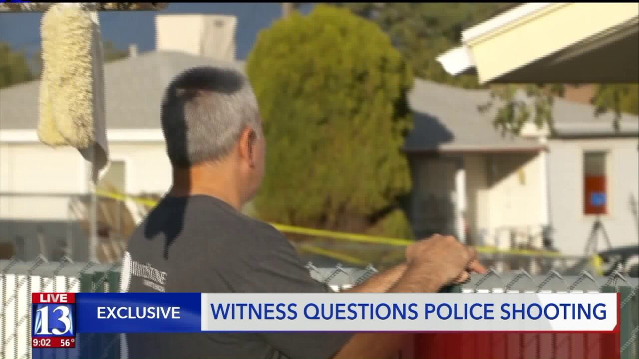 Witness to officer-involved shooting in Kearns 'bothered' by what hesaw