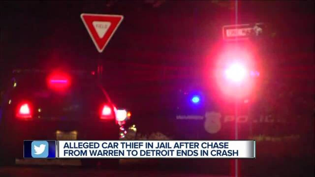 Alleged car thief arrested after police chase