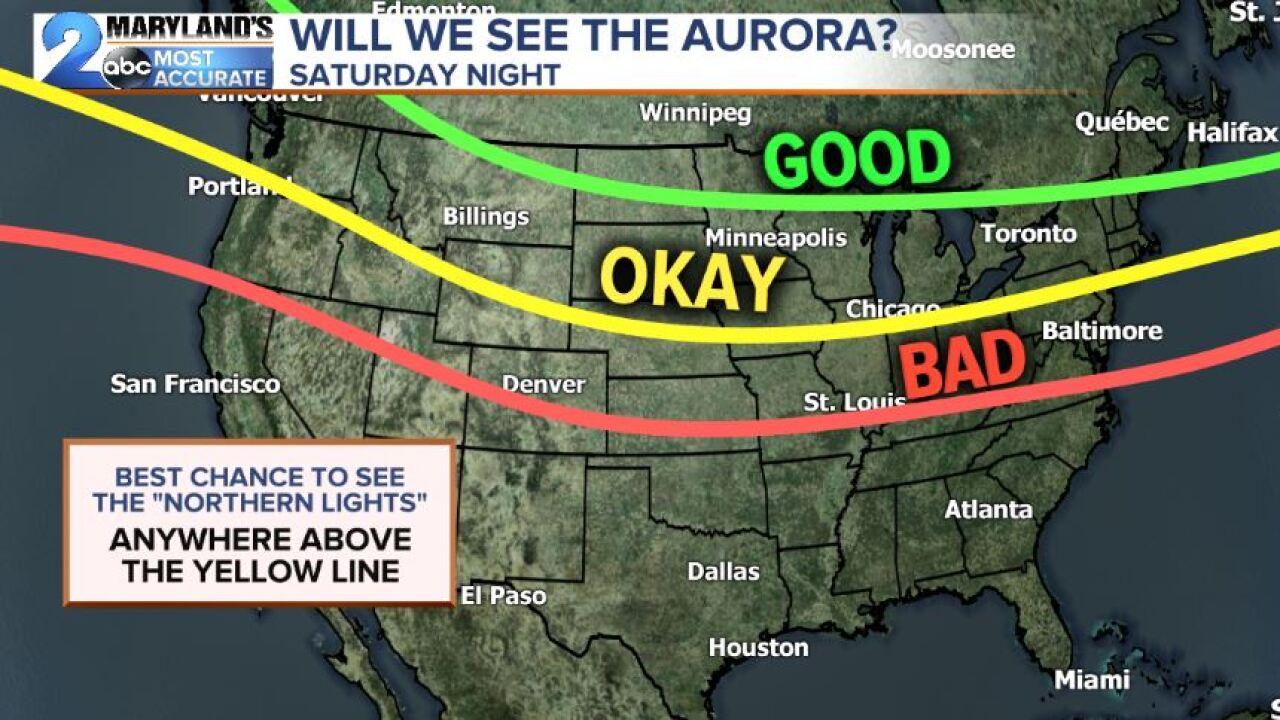 Aurora Visibility Map