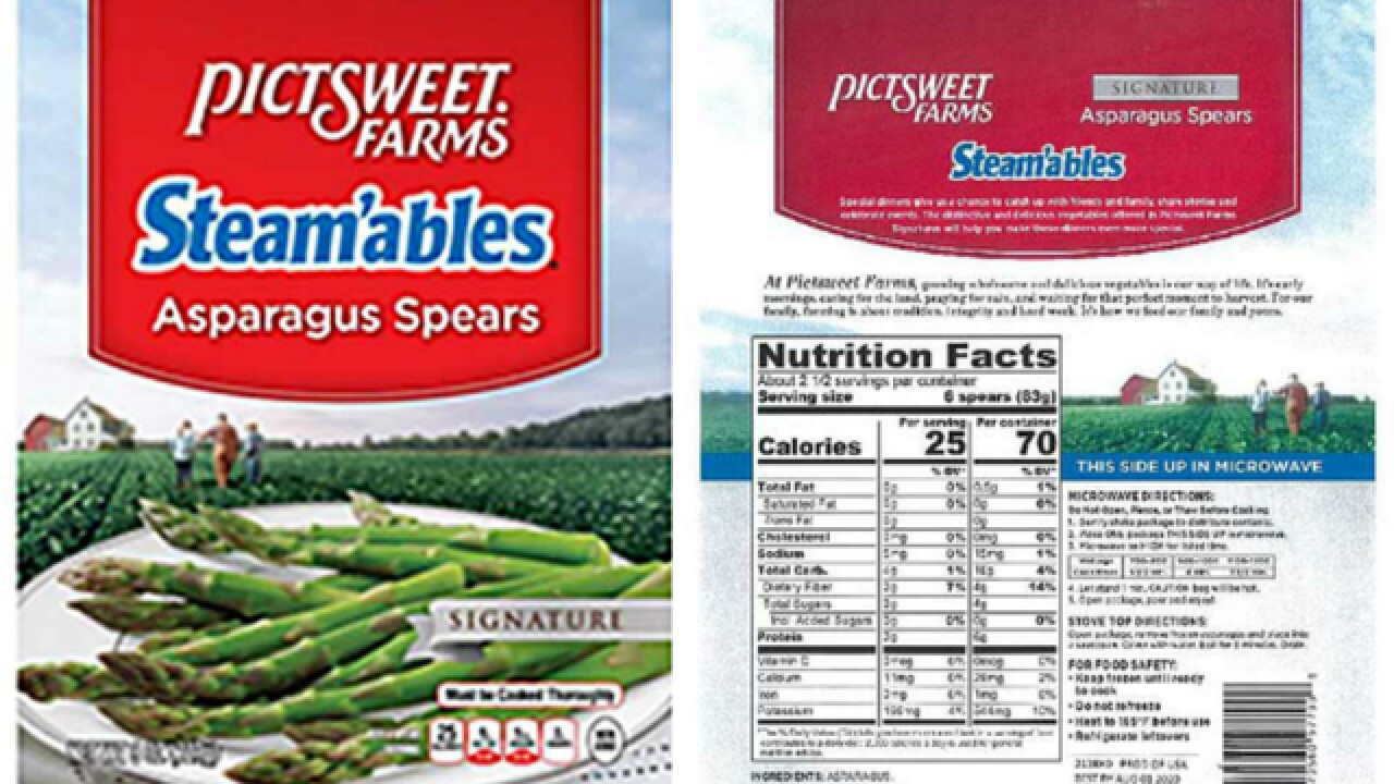 Frozen vegetable recalled due to listeria concern