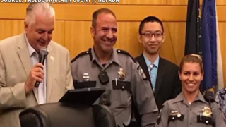 2 Nevada Highway Patrol troopers honored at Clark County Commission meeting