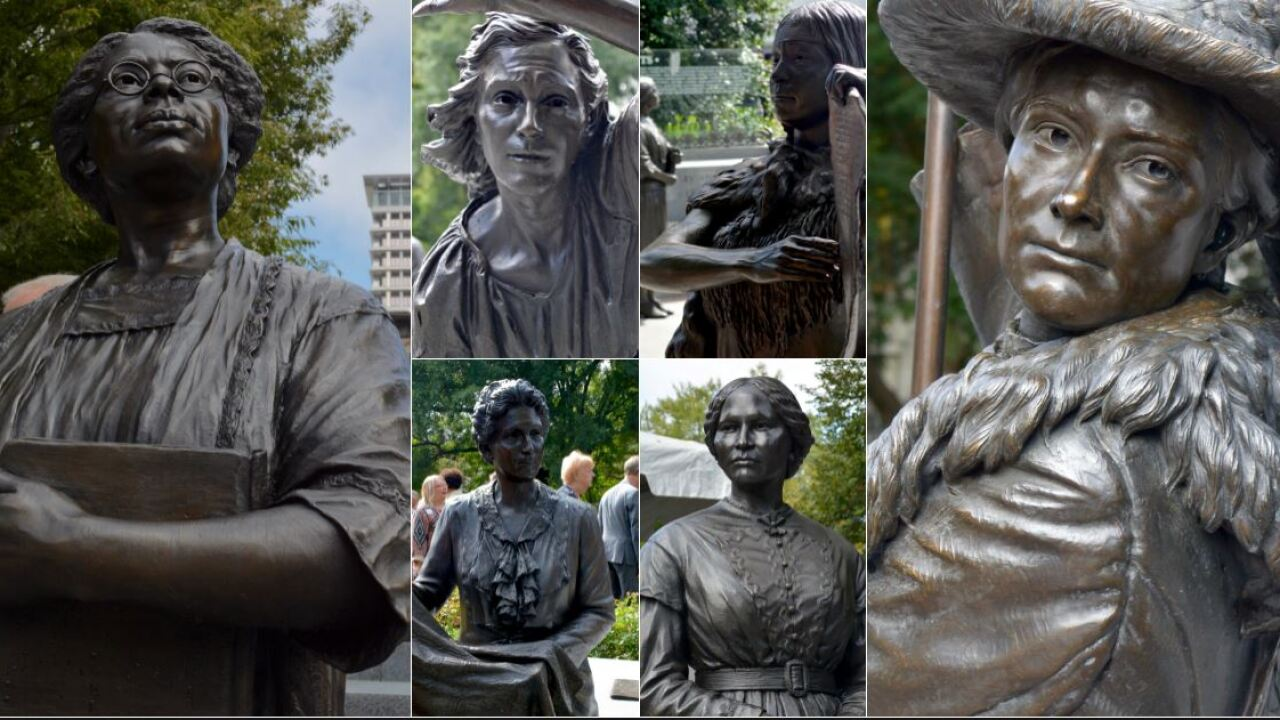 Women's Monument unveiled on Capitol Square: 'No  pedestals, no weapons, nohorses'