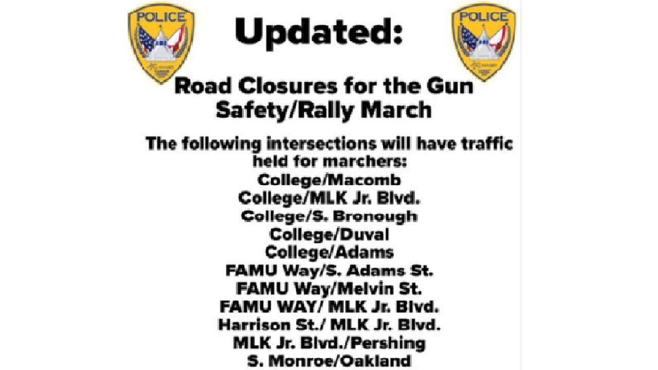 Streets To Be Closed For Gun Safety Rally