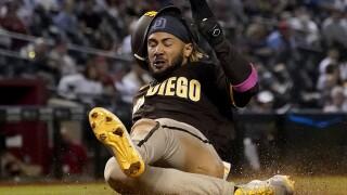 Padres Diamondbacks Baseball Fernando Tatis slide