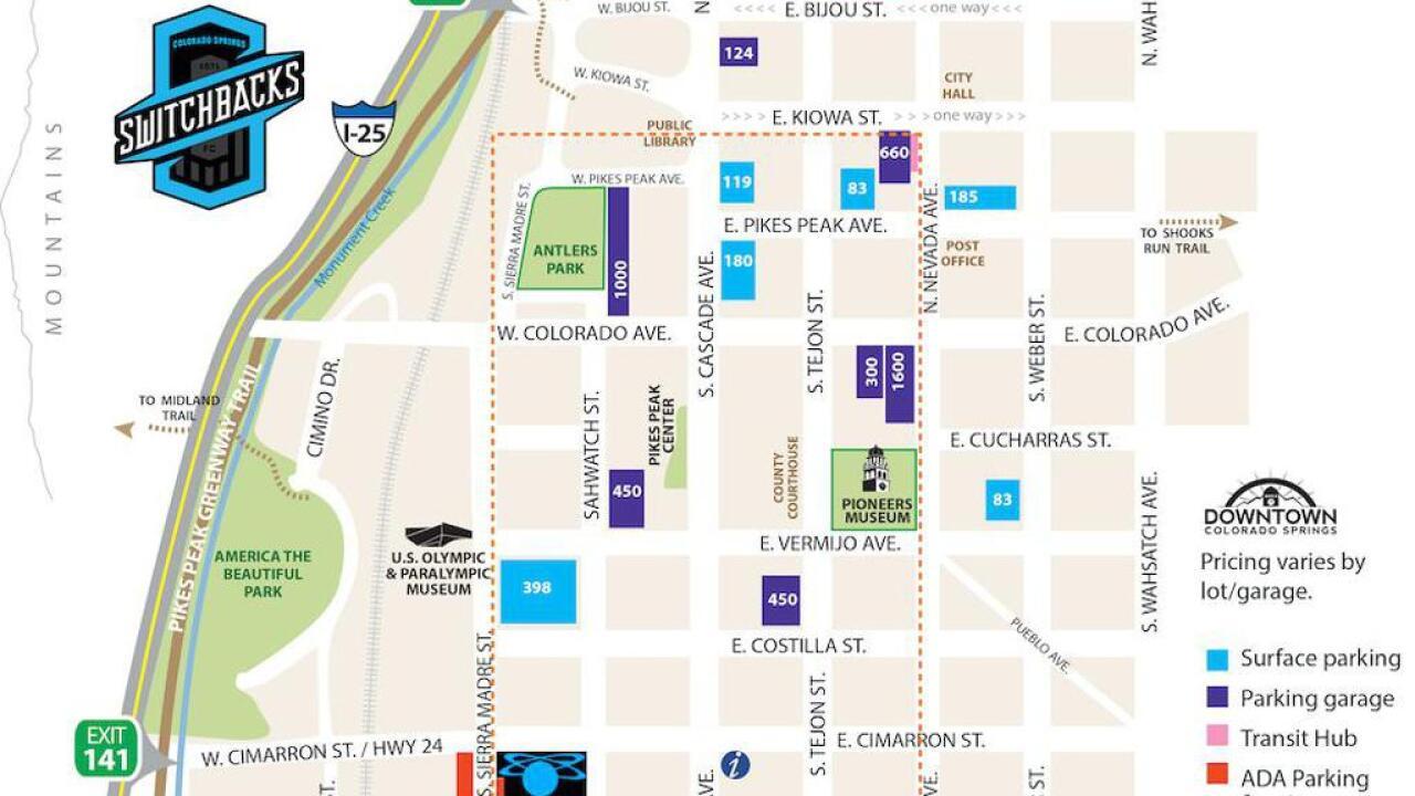 Weidner_Field_Parking map