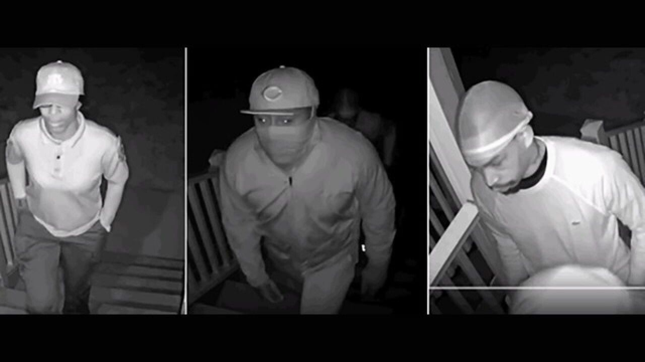 Three home intruders sought in July 2017 robbery