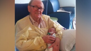 'NICU Grandpa' comforts newborns when their parents can't be there