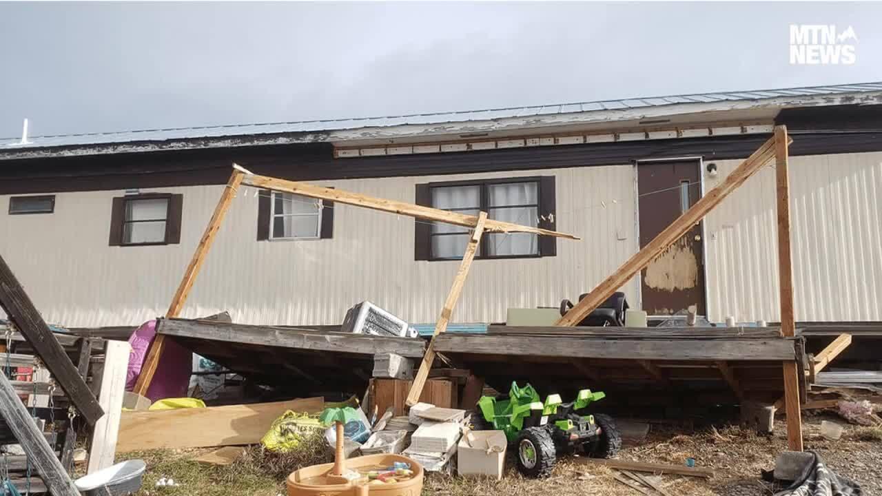 Tiffany Keck wind storm house damage